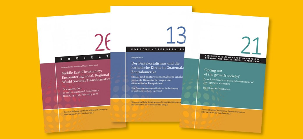Publikationen der Wissenschaftlichen Arbeitsgruppe für weltkirchliche Aufgaben