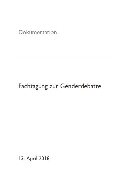 Dokumentation: Fachtagung zur Genderdebatte