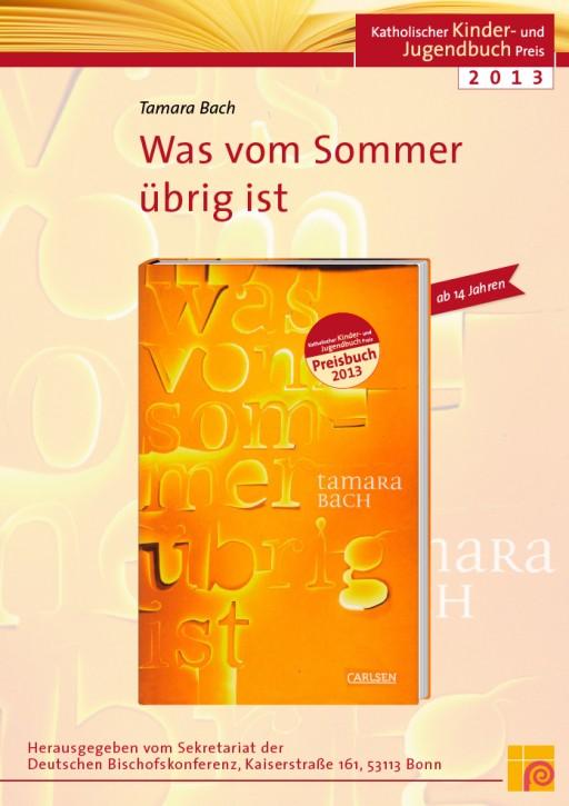 Plakat zum Katholischen Kinder- und Jugendbuchpreis 2013