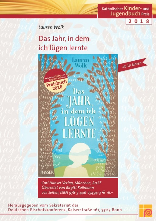Plakat zum Katholischen Kinder- und Jugendbuchpreis