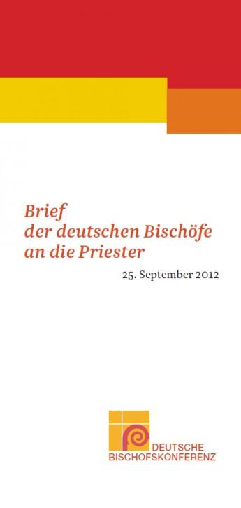 Flyer Brief der deutschen Bischöfe an die Priester