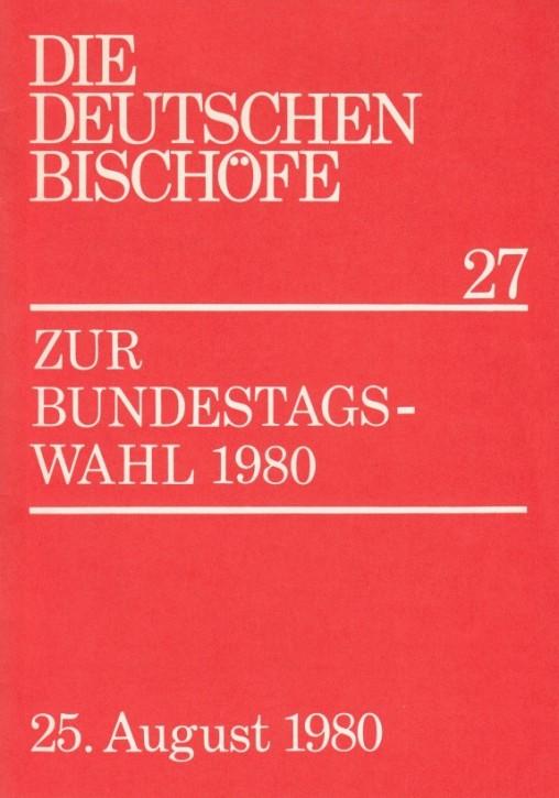 Zur Bundestagswahl 1980
