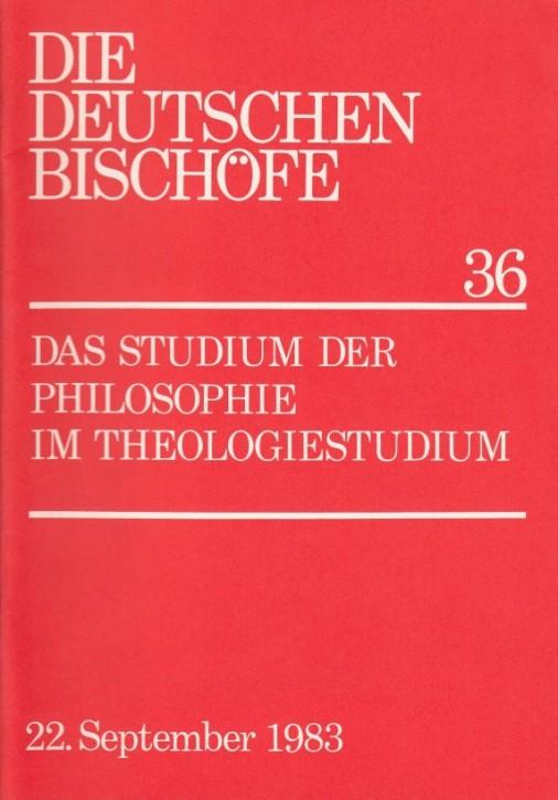 Das Studium der Philosophie im Theologiestudium
