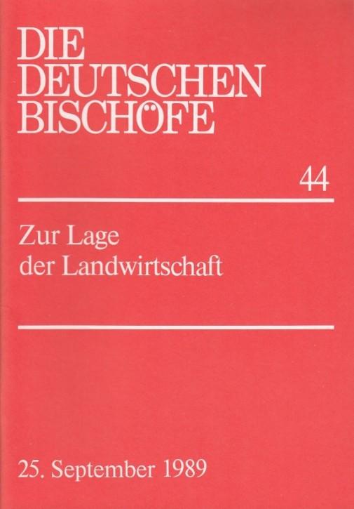 Wort der deutschen Bischöfe zur Lage der Landwirtschaft