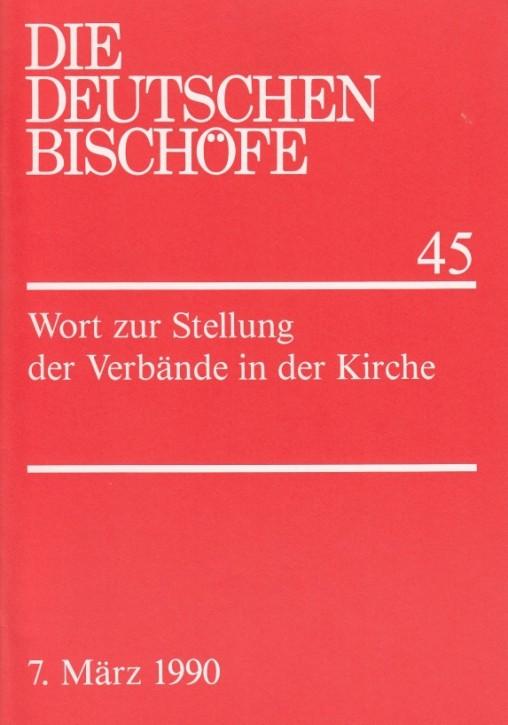 Wort der deutschen Bischöfe zur Stellung der Verbände in der Kirche