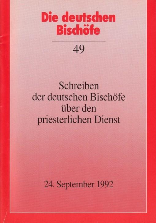 Schreiben der deutschen Bischöfe über den priesterlichen Dienst