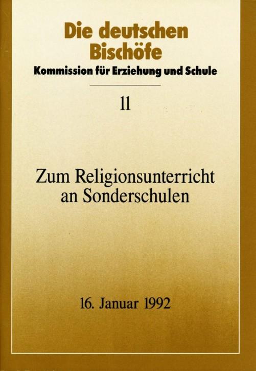 Zum Religionsuntericht an Sonderschulen