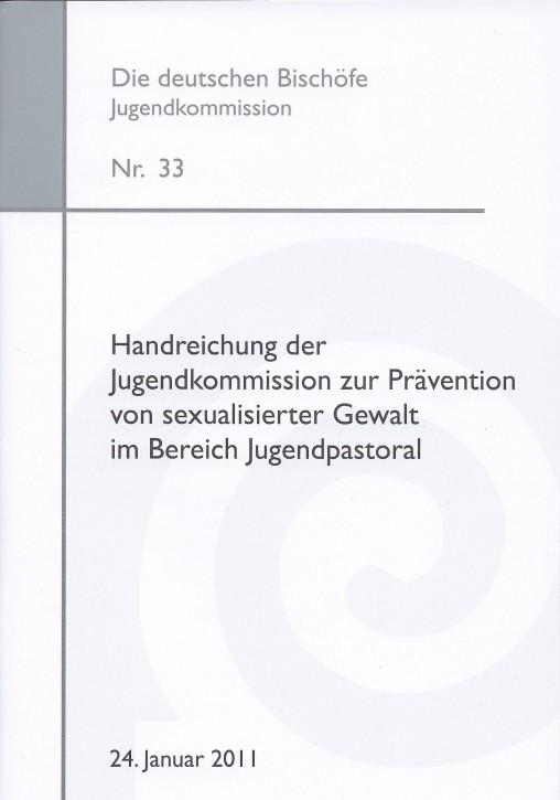 Handreichung der Jugendkommission zur Prävention von sexualisierter Gewalt im Bereich Jugendpastoral