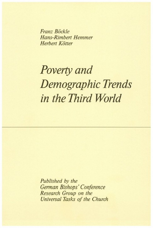Poverty and Demographic Trends in the Third World