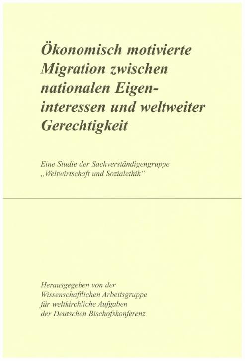 Ökonomisch motivierte Migration