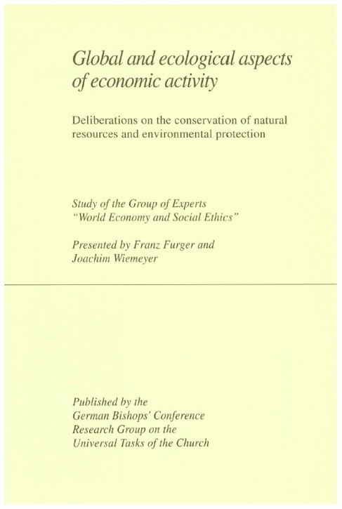 Global and ecologial aspects of econimic activity