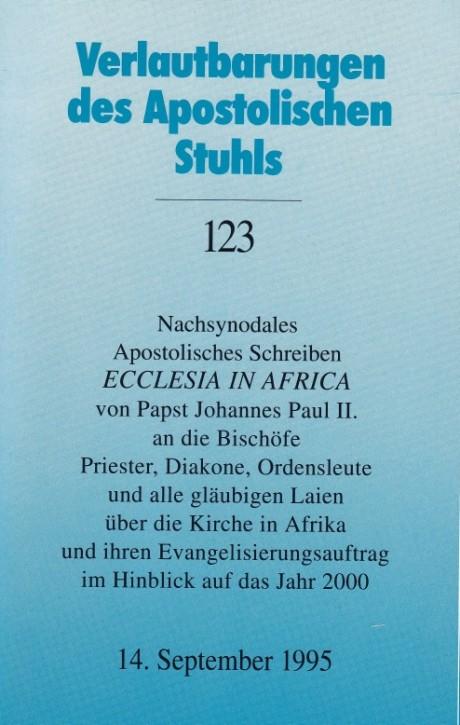 Papst Johannes Paul II.: Nachsynodales Apostolisches Schreiben ECCLESIA IN AFRICA