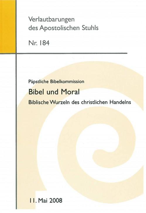 Päpstliche  Bibelkommission: Bibel und Moral
