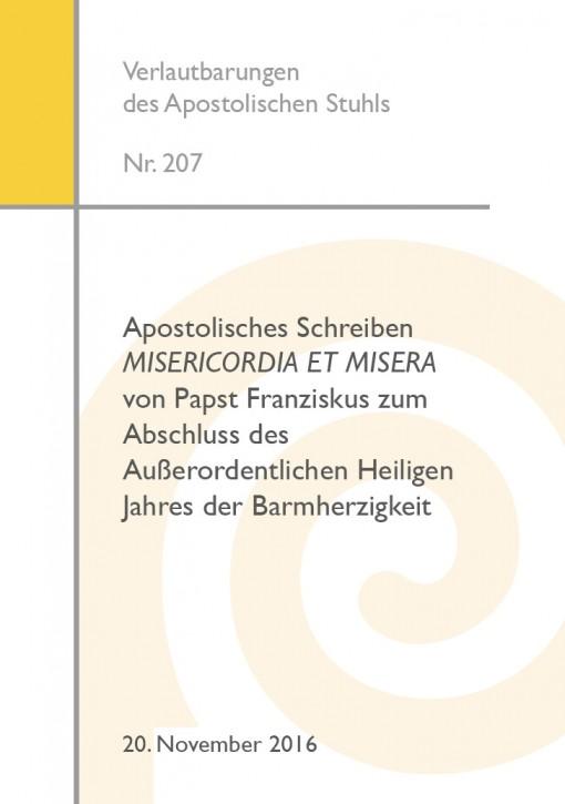 Apostolisches Schreiben MISERICORDIA ET MISERA von Papst Franziskus zum Abschluss des Außerordentlichen Heiligen Jahres der Barmherzigkeit