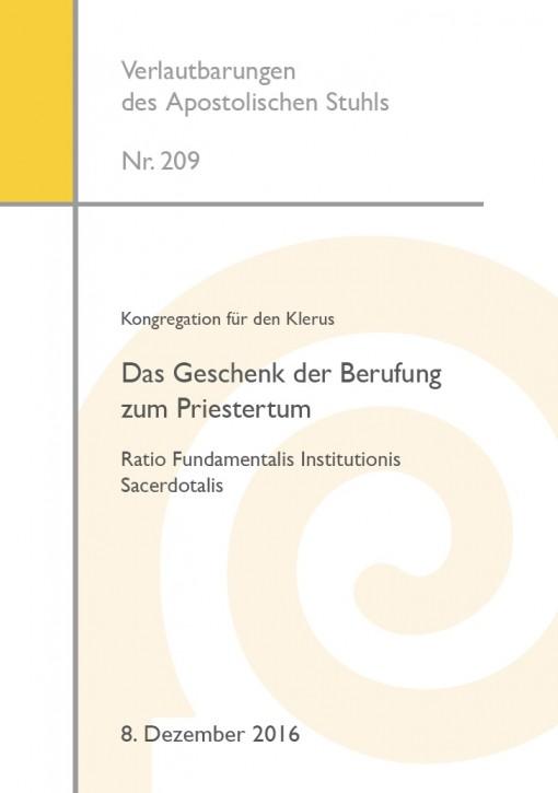 Kongregation für den Klerus: Das Geschenk der Berufung zum Priestertum Ratio Fundamentalis Institutionis Sacerdotalis