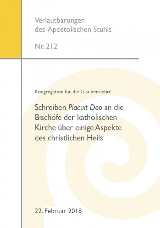 Kongregation für die Glaubenslehre: Schreiben Placuit Deo an die Bischöfe der katholischen Kirche über einige Aspekte des christlichen Heils