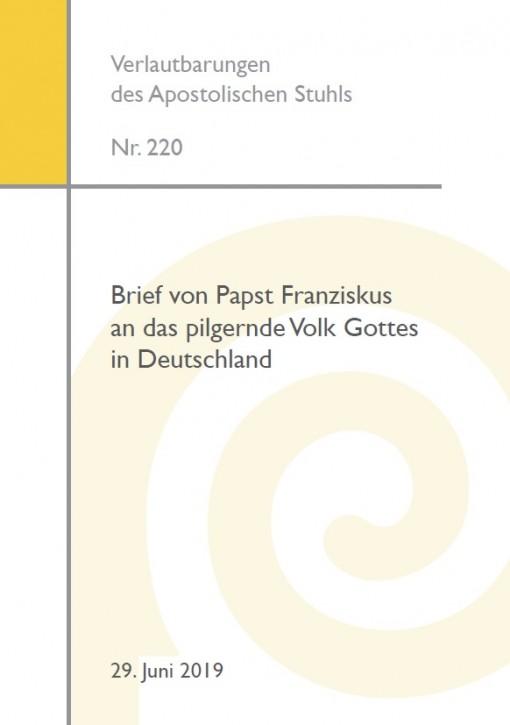 Brief von Papst Franziskus an das pilgernde Volk Gottes in Deutschland