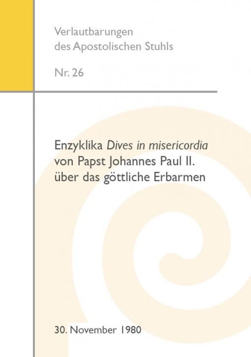 Enzyklika Dives in misericordia von Papst Johannes Paul II. über das göttliche Erbarmen