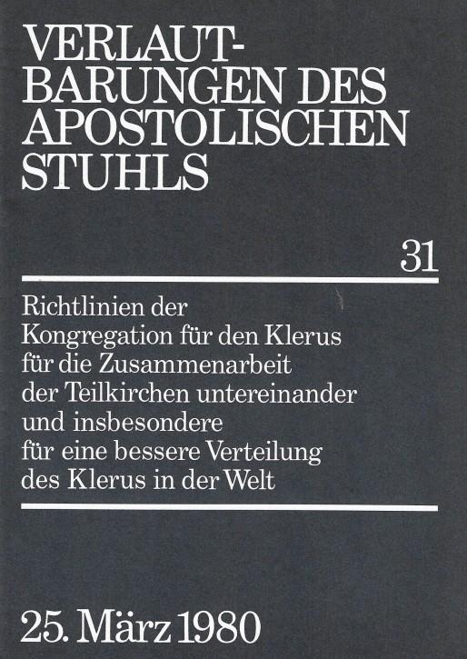 Richtlinien für die Zusammenarbeit der Teilkirchen untereinander