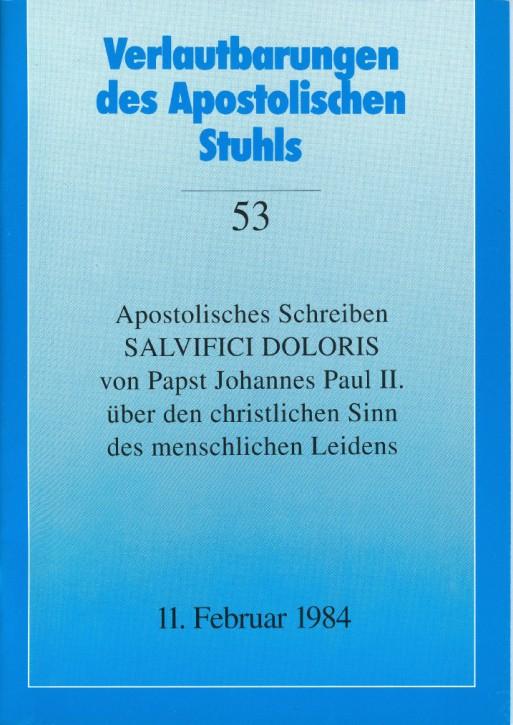 Apostolisches Schreiben SALVIFICI DOLORIS