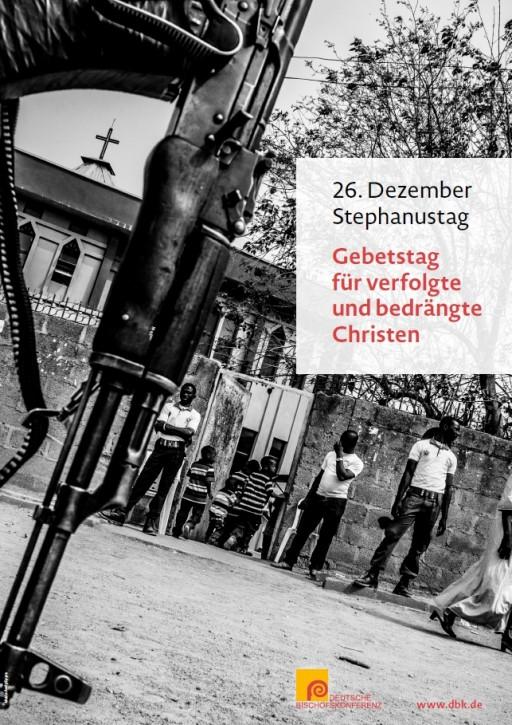 Plakat Gebetstag für verfolgte und bedrängte Christen - Stephanustag, 26. Dezember (neues Motiv)
