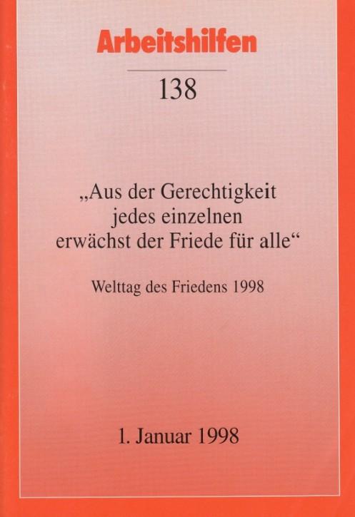 Welttag des Friedens 1998