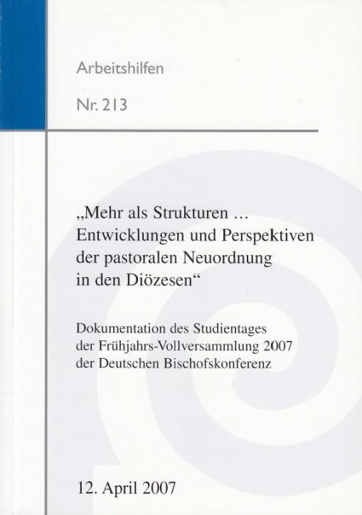 """""""Mehr als Strukturen... Entwicklungen  und Perspektiven der pastoralen Neuordnung in den Diözesen"""""""