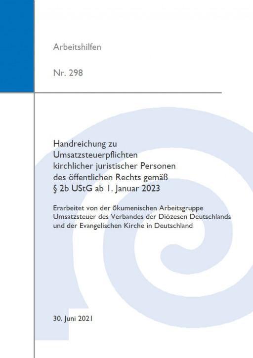 Handreichung zu Umsatzsteuerpflichten kirchlicher juristischer Personen des öffentlichen Rechts gemäß § 2b UStG ab 1. Januar 2023
