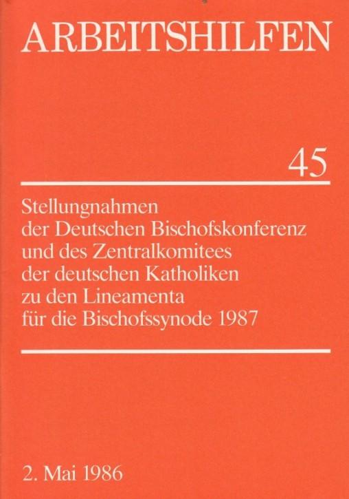 Stellungnahmen zu den Lineamenta für die Bischofssynode 1987