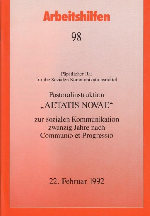 Pastoralinstruktion AETATIS NOVAE