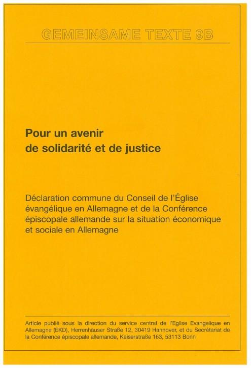 Pour un avenir de solidarité et de justice