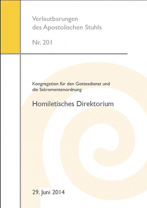 Kongregation für den Gottesdienst und die Sakramentenordnung: Homiletisches Direktorium