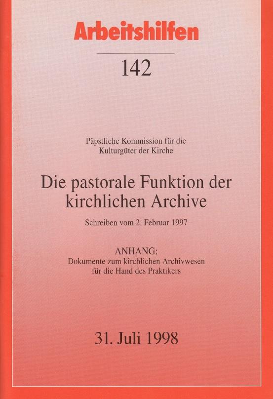Päpstliche Kommission für die Kulturgüter der Kirche. Die pastorale ...
