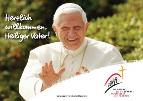 Plakat Wo Gott ist, da ist die Zukunft - Papstbesuch 2011