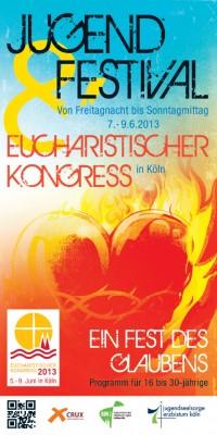 Flyer zum Eucharistischen Kongress 2013 - Jugend Festival