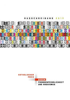 """Flyer zum """"Katholischen Preis gegen Fremdenfeindlichkeit und Rassismus"""""""