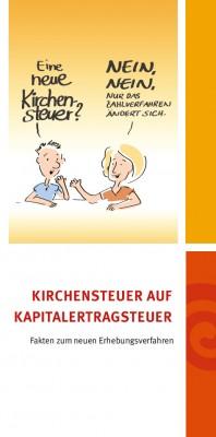 """Flyer """"Hinweise zur Kirchensteuer auf Kapitalertragsteuer"""""""