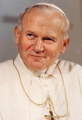 Gebetszettel zur Heiligsprechung von Papst Johannes Paul II.