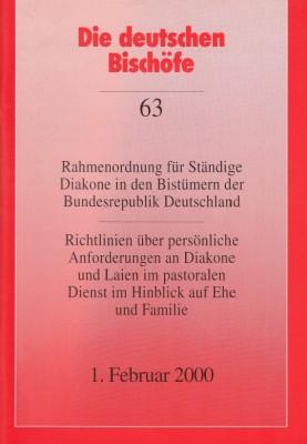 Rahmenordnung/Richtlinien für Ständige Diakone in den Bistümern der Bundesrepublik Deutschland
