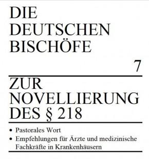 Zur Novellierung des § 218