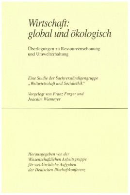 Wirtschaft: global und ökologisch