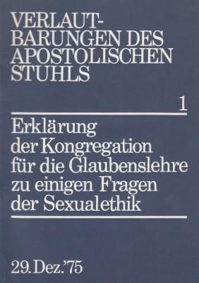 Erklärung zu einigen Fragen der Sexualethik