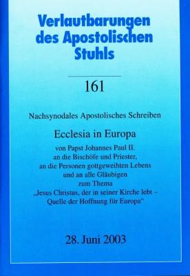 Papst Johannes Paul II.: ECCLESIA IN EUROPA