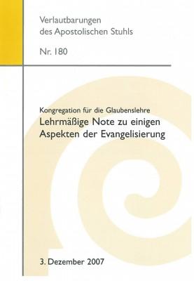 Lehrmäßige Note zu einigen Aspekten der Evangelisierung
