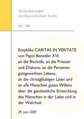 Enzyklika CARITAS IN VERITATE von Papst Benedikt XVI.