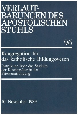 Instruktion über das Studium der Kirchenväter in der Priesterausbildung
