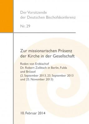 Zur missionarischen Präsenz der Kirche in der Gesellschaft