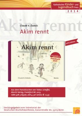 Plakat zum Katholischen Kinder- und Jugendbuchpreis 2014