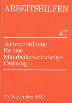 Rahmenordnung für eine Mitarbeitervertretungsordnung