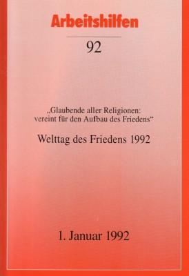 Welttag des Friedens 1992